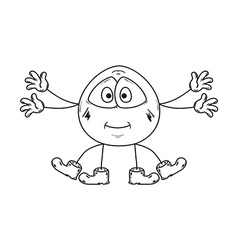 Emoticon with many hands and legs vector