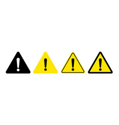 Exclamation mark warning attention icon vector