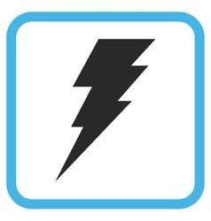 Execute icon in a frame vector
