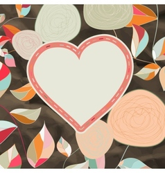 Flower heart for wedding or Valentines day EPS 8 vector image