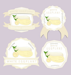 for whole ripe vegetable white vector image