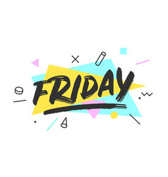 Friday banner speech bubble vector