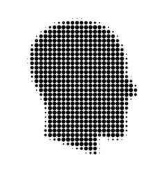 gentleman profile halftone dotted icon vector image