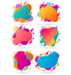 Gradient abstract geometric shapes banners vector