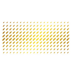 hand golden halftone matrix vector image