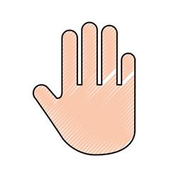 Hand human stop icon vector