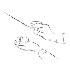 Hands of conductor vector