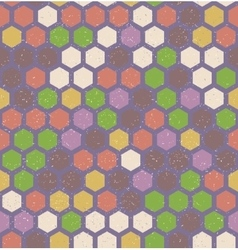 Hexagon retro seamless pattern vector