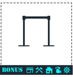 horizontal bar icon flat vector image