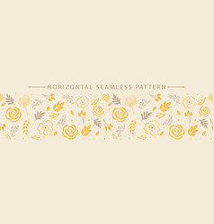 horizontal seamless border with beautiful floral vector image
