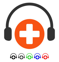 Hospital call service flat icon vector