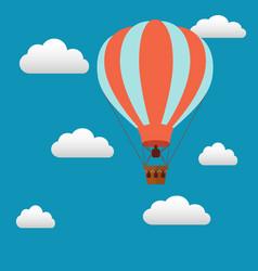 Hot air baloon in sky vector