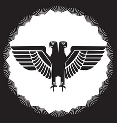 image of a two-headed eagle vector image
