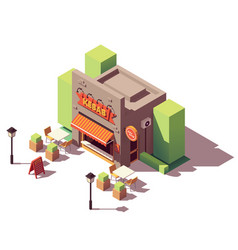 Isometric kebab shop vector