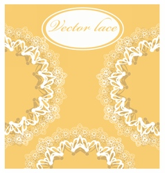 Lace round ornament vector image