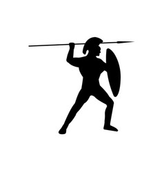 legionnaire warrior silhouette on white background vector image