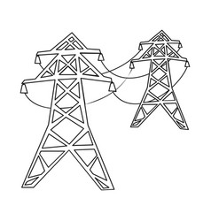 Line and electric sign vector