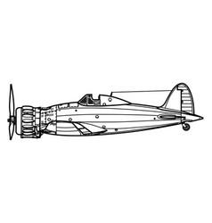 macchi c200 saetta vector image