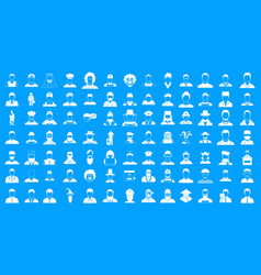 man silhouette icon blue set vector image