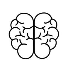 mental health smart brain line icon vector image