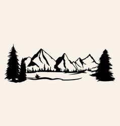 mountains silhouettes mountains mountains vector image