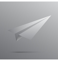 Paper white plane The beginning of the way vector image