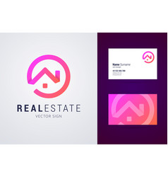 Real estate logo template vector