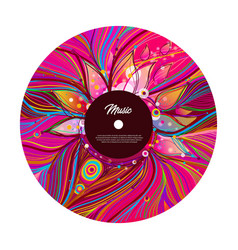 Retro vinyl record with red label vector