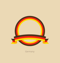 ribbon and circle with flag of germany vector image