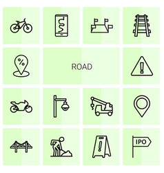 road icons vector image
