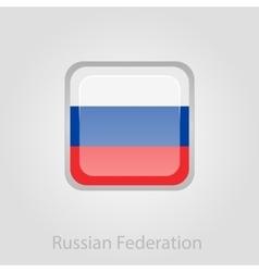 Russian flag button vector
