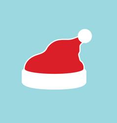 santa claus hat flat realistic santa claus hat vector image