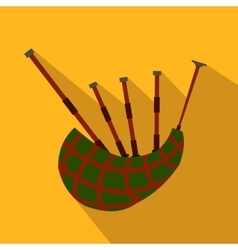 Scottish bagpipe flat icon vector image