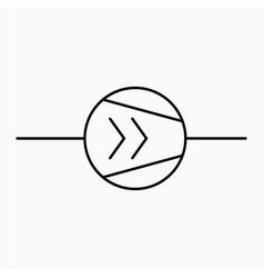 Screw compressor symbol icon vector