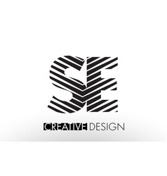 Se s e lines letter design with creative elegant vector
