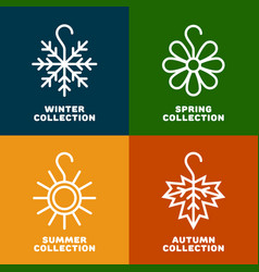 seasonal collection logo vector image