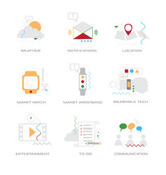 set different business concepts collection line vector image