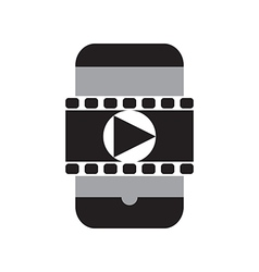 Smart phone movie vector image