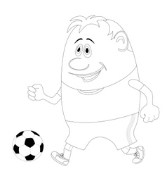Soccer with ball contour vector image
