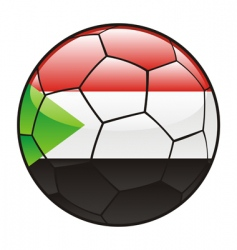 Sudan flag on soccer ball vector