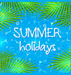 summer background with palm branches vector image