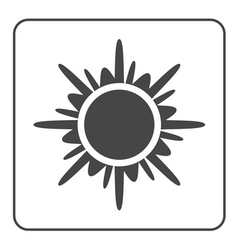 Sun icon Black design element vector image