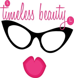 Timeless Beauty Lips Eyewear vector