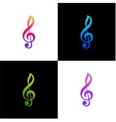 Tone music gradient color vector