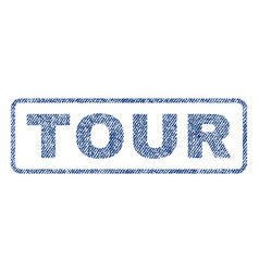 Tour textile stamp vector