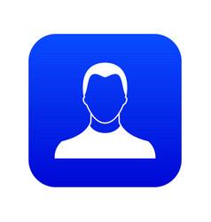 User icon digital blue vector