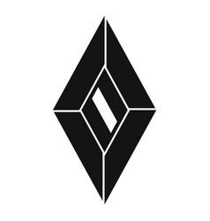 Vintage jewel icon simple style vector