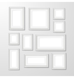 Wall photo frames collection vector