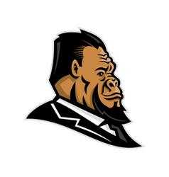 Well-groomed gorilla mascot vector