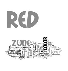 Whats so special about the red zune text word vector